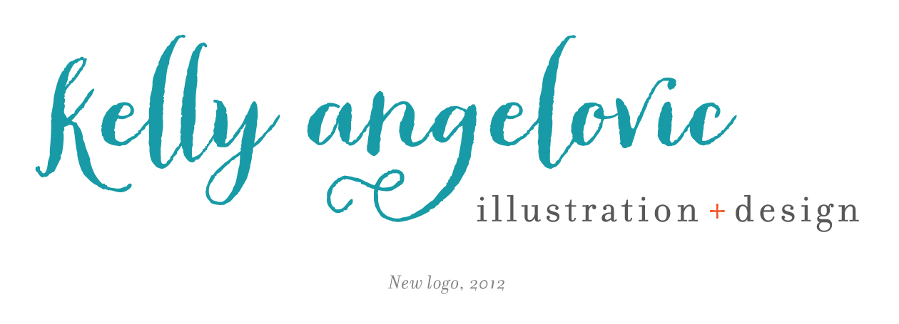 Kelly Angelovic Design + Illustration logo, 2012
