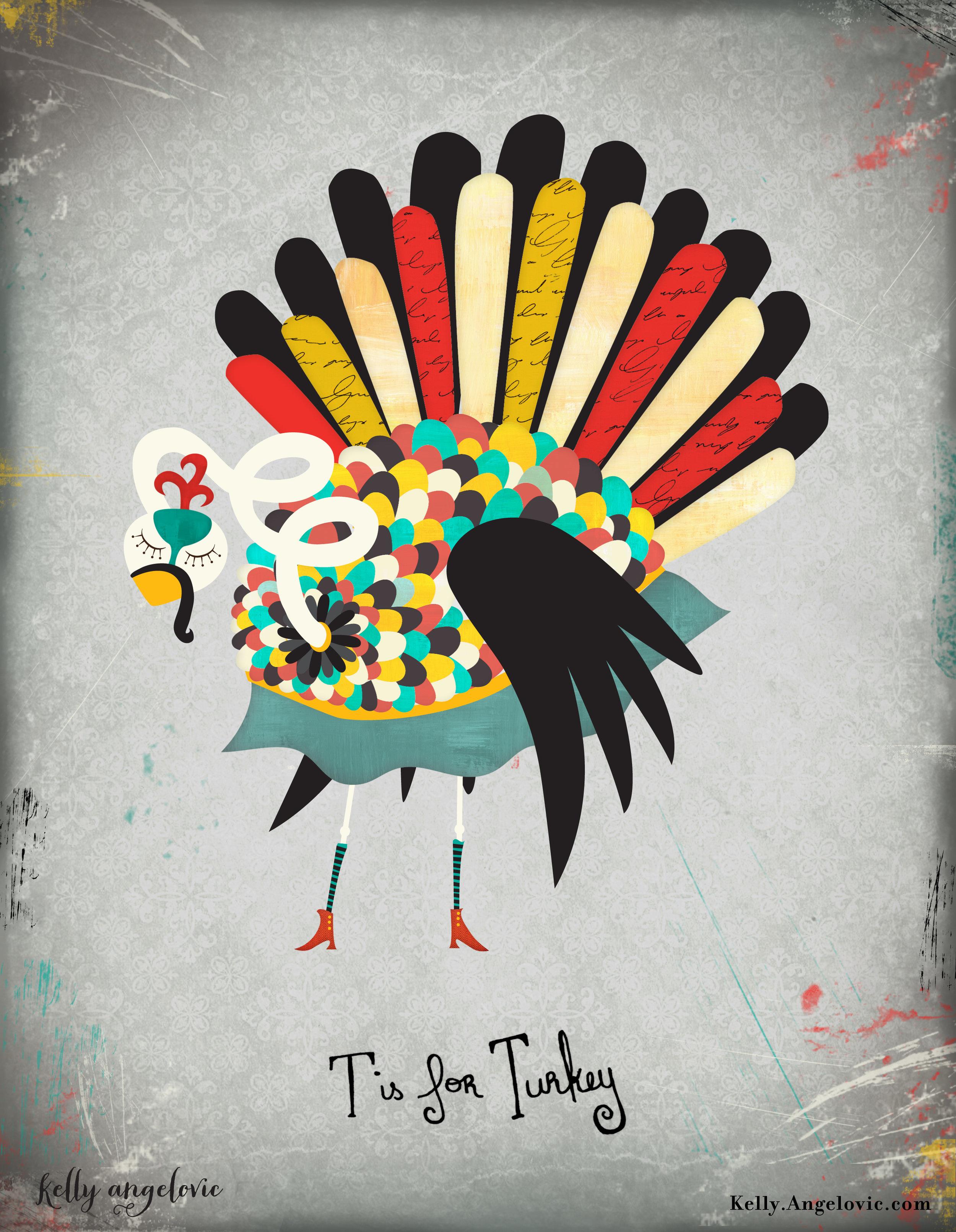 Gobble Gobble. Turkey Illustration