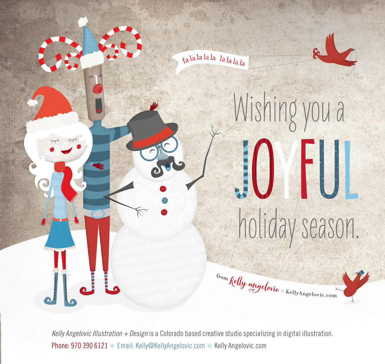 Holiday Illustration for Kelly Angelovic Illustration + Design