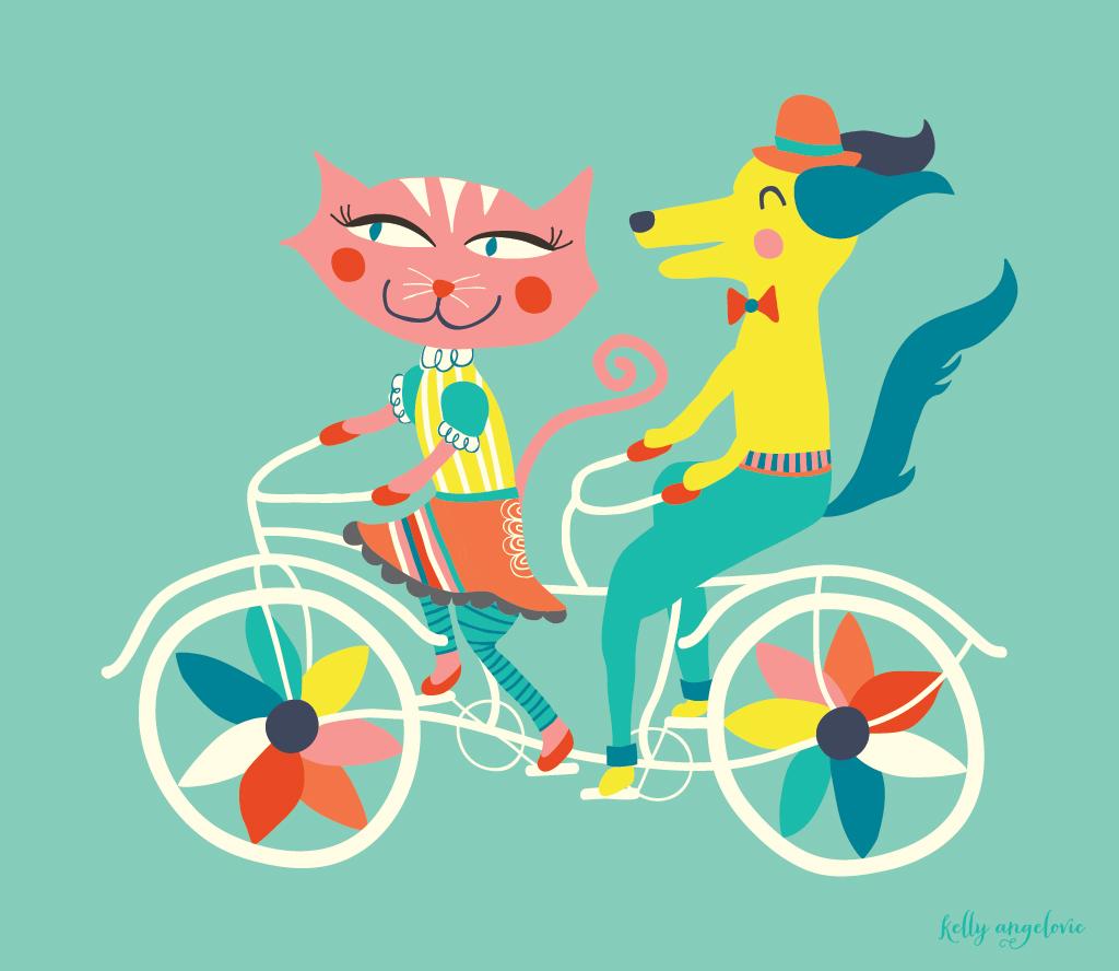 Tandem Bike Sketch