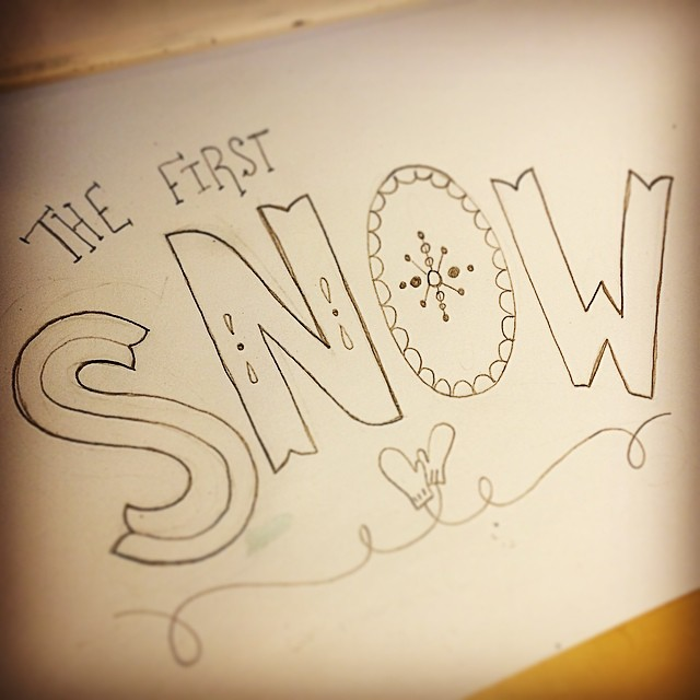 The First Snow doodle