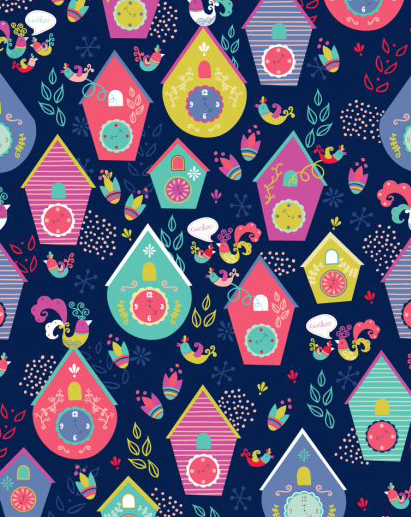 Cuckoo Clock Fabric Swatch