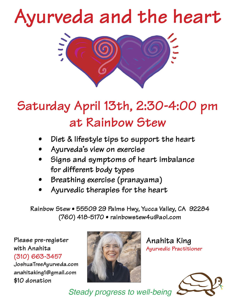 Heart presentation at Rainbow Stew, Yucca Valley