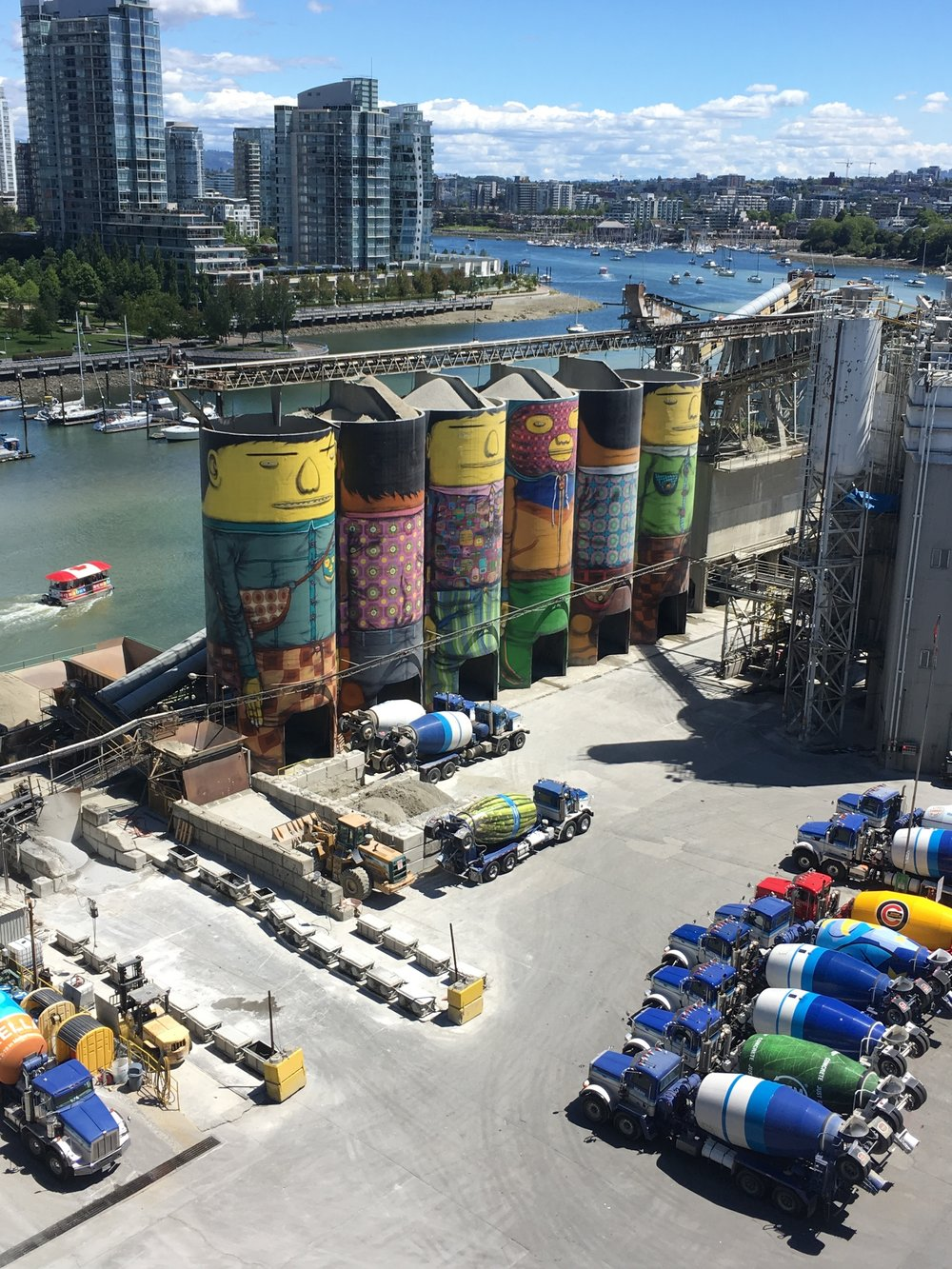 Granville Island from above