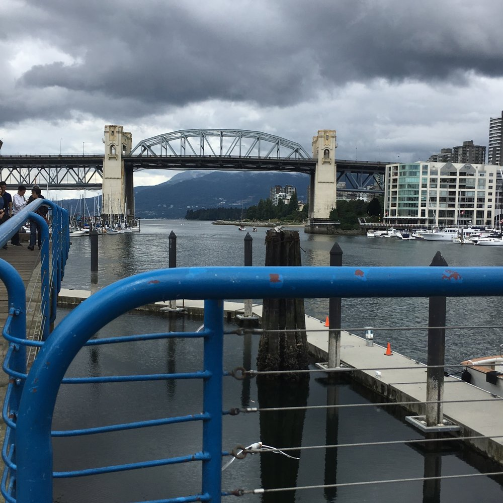 A storm rolling in over Granville Island