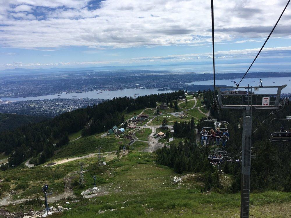 The Grouse Mountain gondola