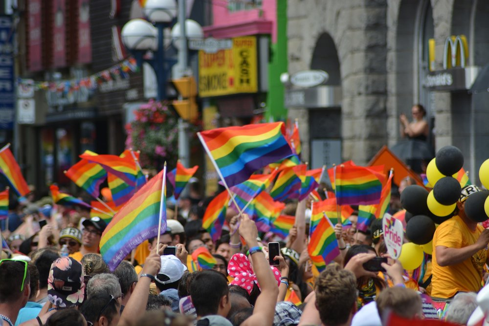 A gay pride event taking place. 📸:  Pixabay