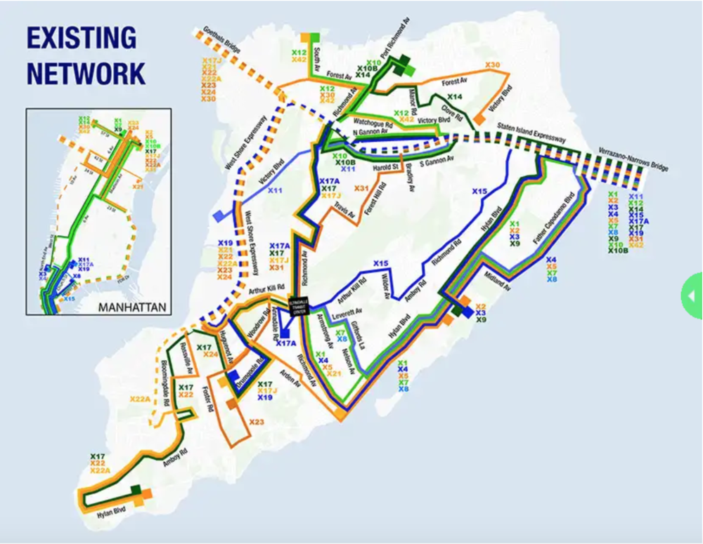 The existing network has lots of turns during bus routes, overlap and are not direct, making journeys longer for passengers. 📸:  MTA