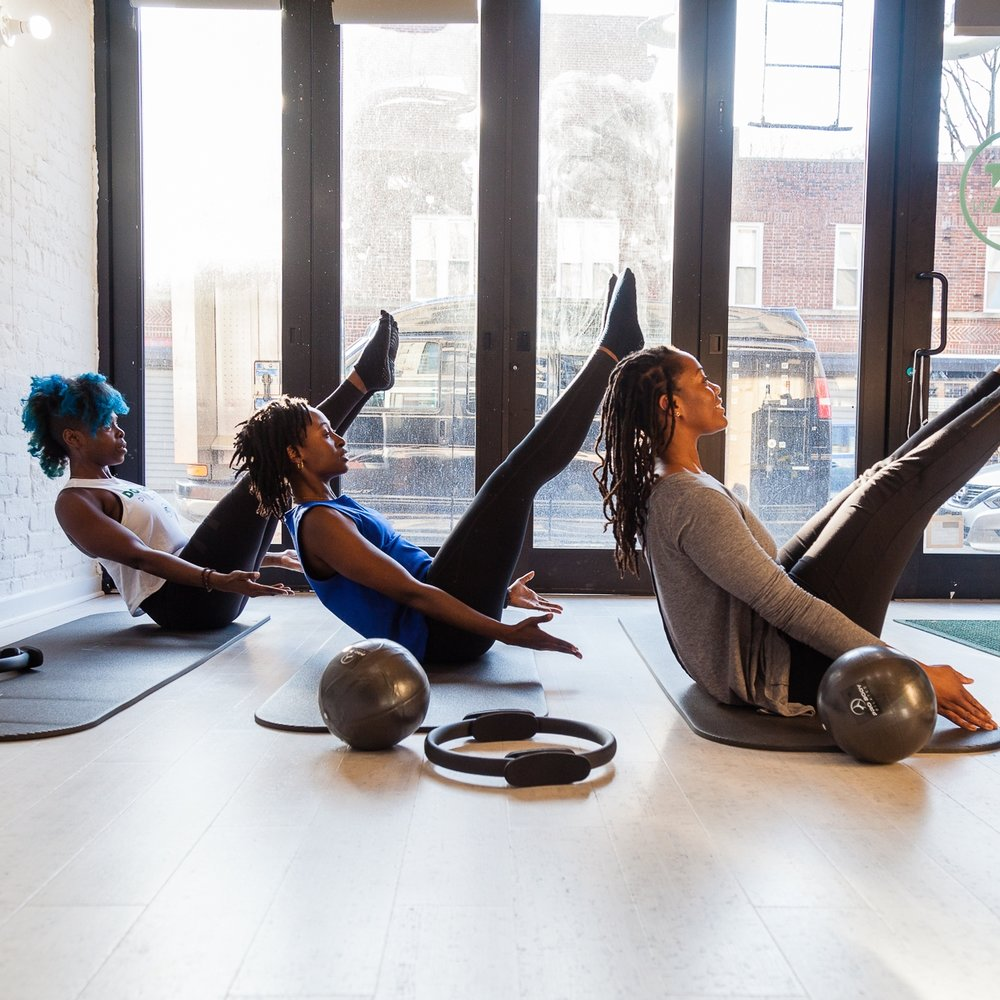 PILATES STRONG - We're taking our pilates mat class and dialing it up a notch. While maintaining the focus on alignment, expect a faster paced class that will challenge all your muscle and get you working up a glisten. *NO SHOES REQUIRED*