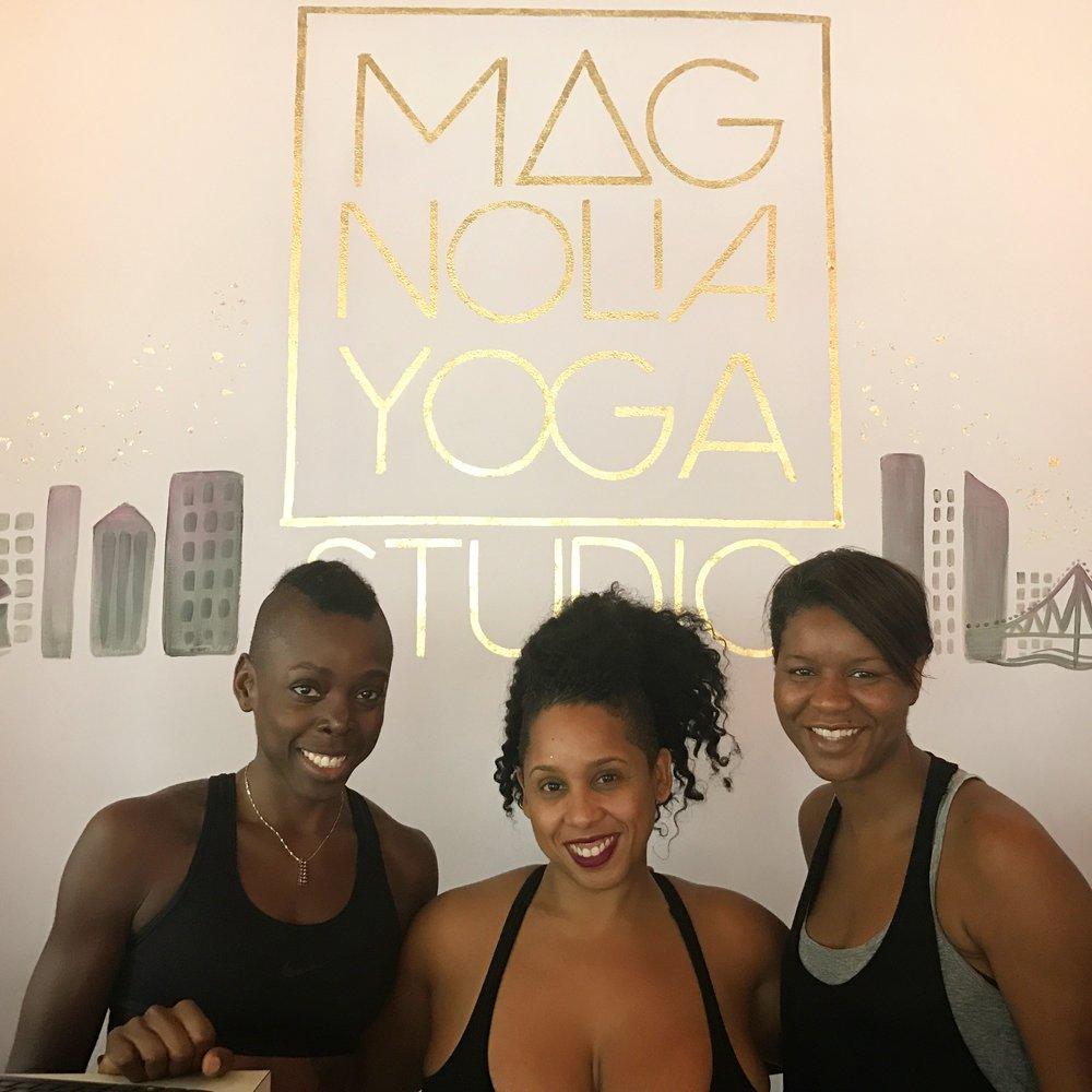 Magnolia Yoga in New Orleans (Owner, Ajax, in center)