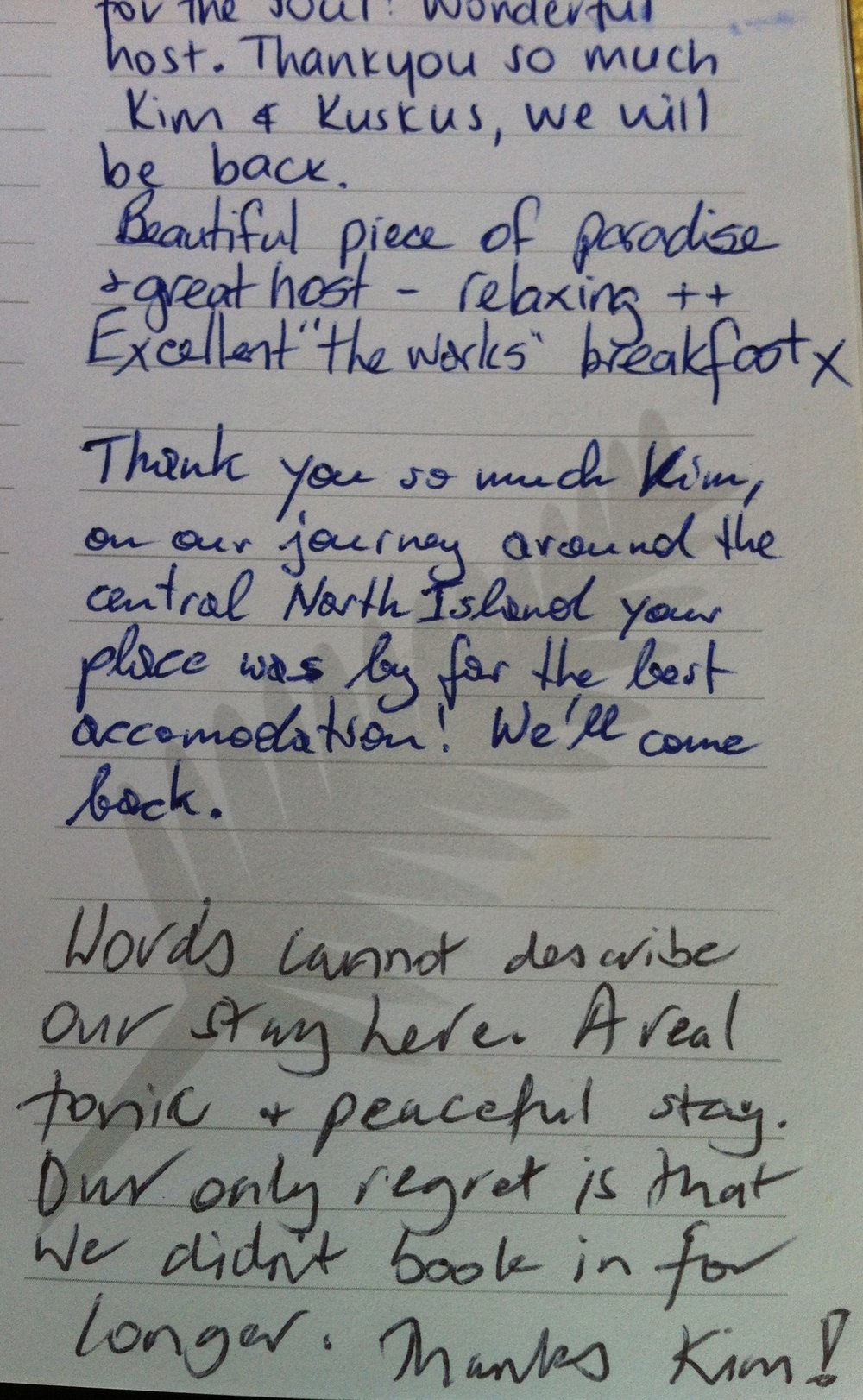 From the in-house Guestbook
