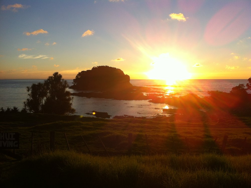 "Sunset at ""Little Awanui"""