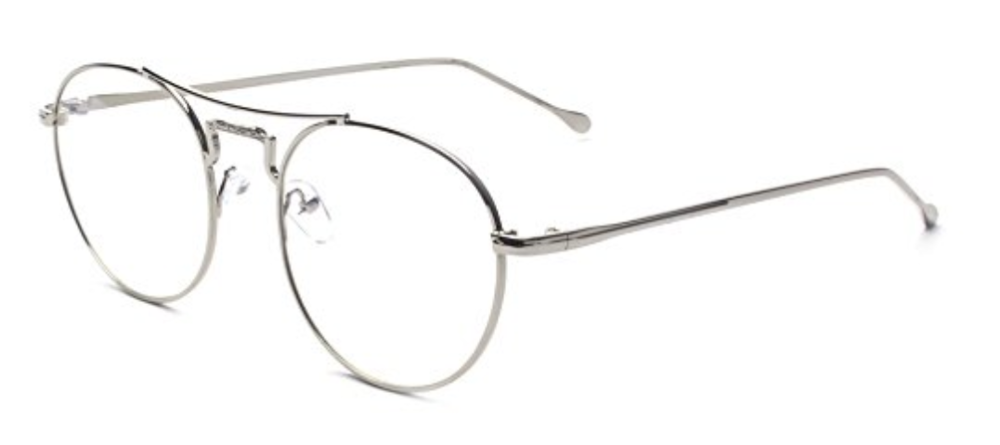 Retro Glasses - Outray Retro Round Metal Clear Lens Glasses