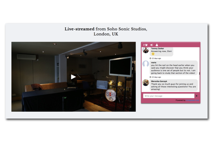 Masterclass LIVE-Streaming & Recorded Version -