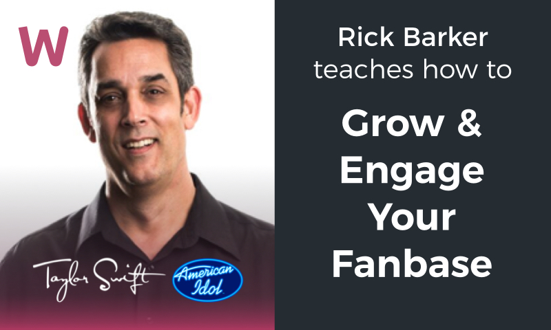 Are you struggling to grow a fanbase, let alone make money? - Rick Barker, the former manager of Taylor Swift & American Idol mentor, has helped hundreds of musicians grow their fanbase and turn a disengaged audience into paying fans.