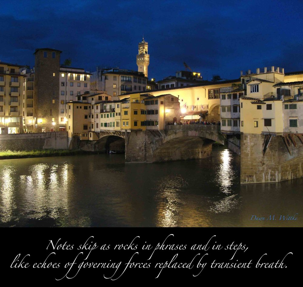 .    From    —Perceived Reflections—     by    Dawn M. Wittke    An outsider's perspective on the spirit of Firenze (2013)          .        .          .        .        .          .        .    .                     .         .        .