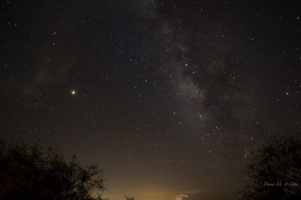 Milky Way & Mars    Photo by Dawn M. Wittke    Taken at Kartchner Caverns State Park, Arizona     .      .      .