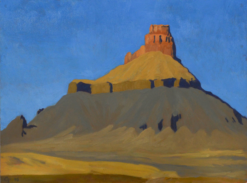 "Factory Butte, oil on panel 9"" X 12"""