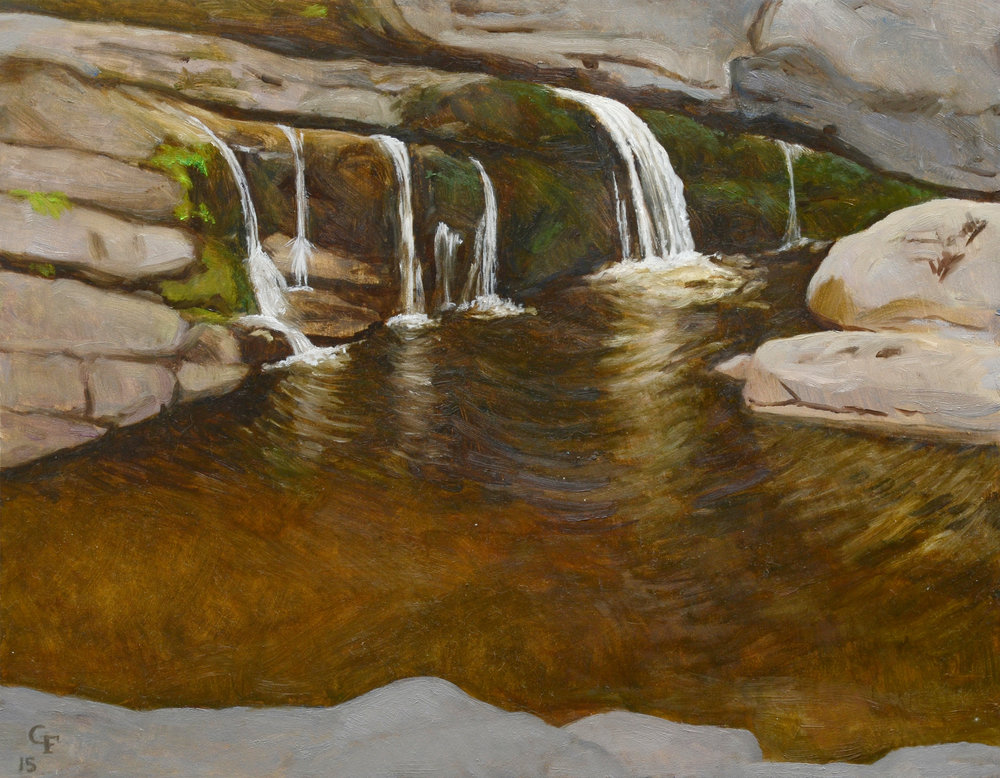 "Swimming Hole Peterskill, o/p, 9"" x 12"""