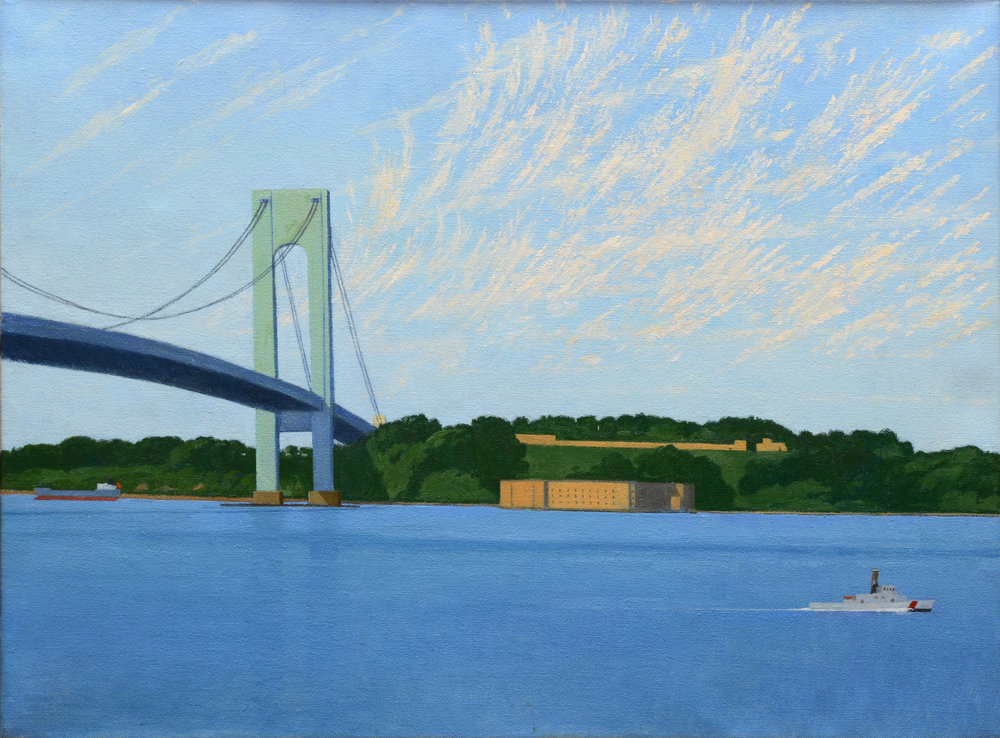 "Verrazono Narrows Bridge, o/c, 18"" x 24"""