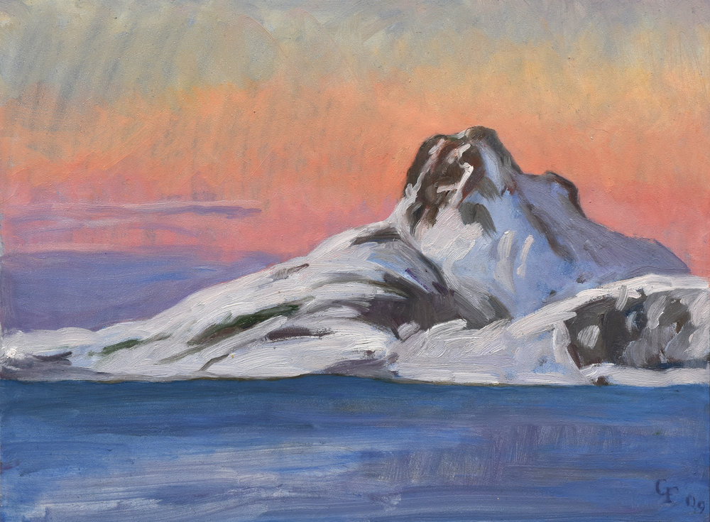 "Bodo II Norway, oil on panel, 9"" x 12"""