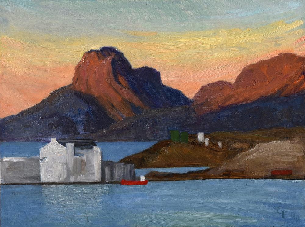 "Bodo I Norway, oil on panel, 9"" x 12"""