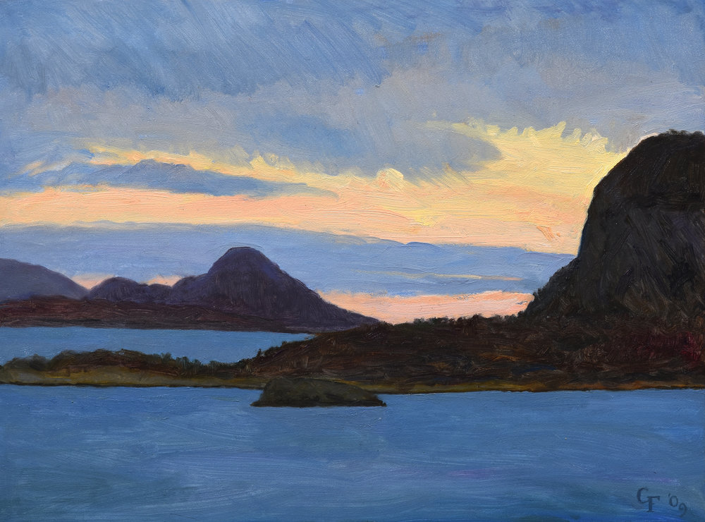 "Alesund II Norway, oil on panel, 9"" x 12"""