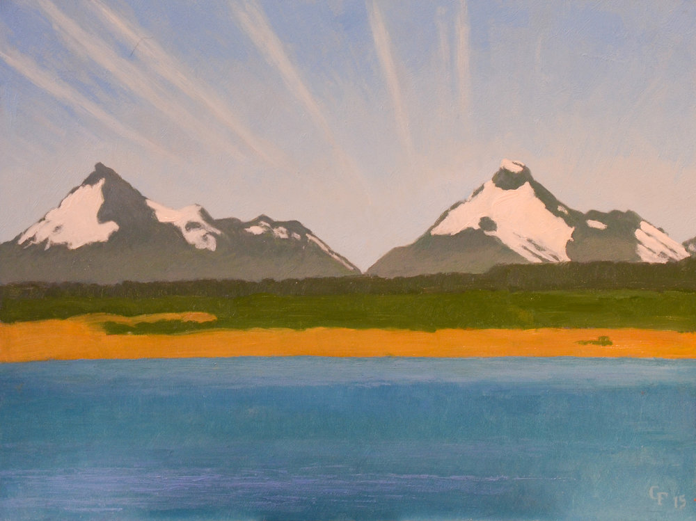 """Fjord Ultima Expiranza, Chile, o/p, 9""""x12"""""""