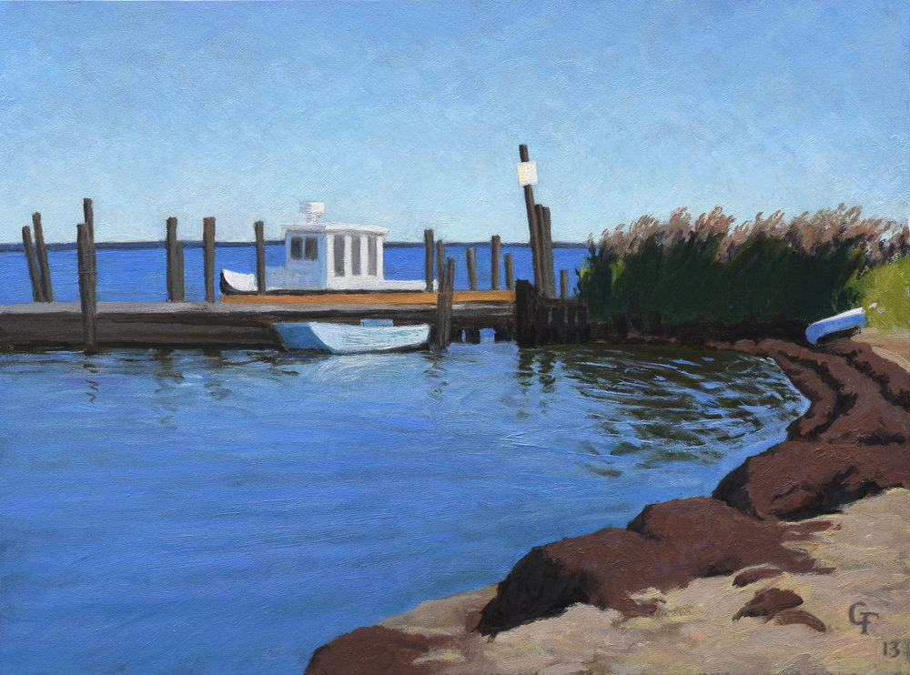 "Great South Bay, Fire Island, o/p, 9"" x 12"""