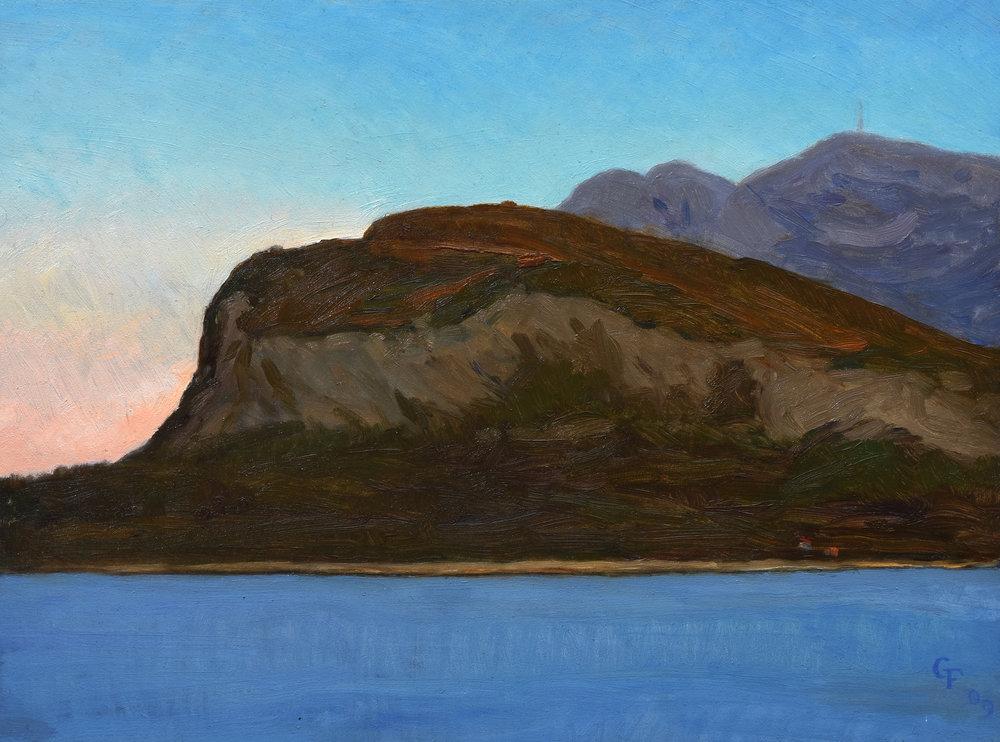 "Alesund I Norway, oil on panel, 9"" x 12"""