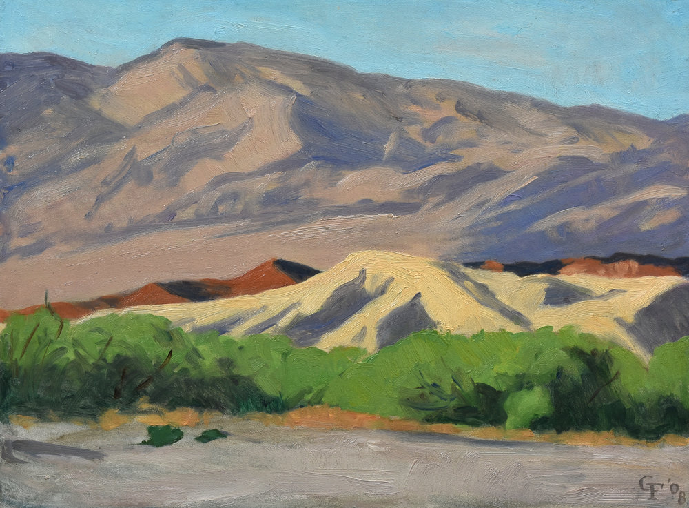 "View from Furnace Creek, oil on panel, 9"" x 12"""