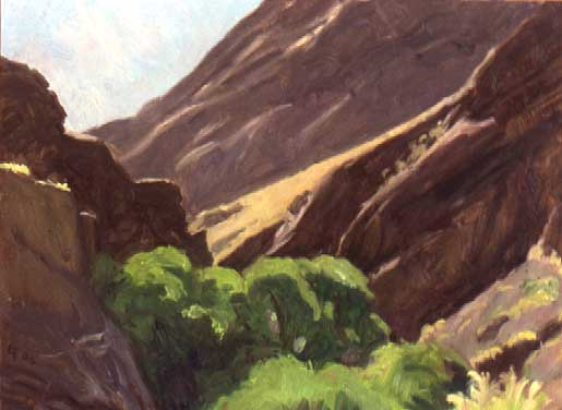 "Surprise Canyon, oil on panel, 9"" x 12"" SOLD"