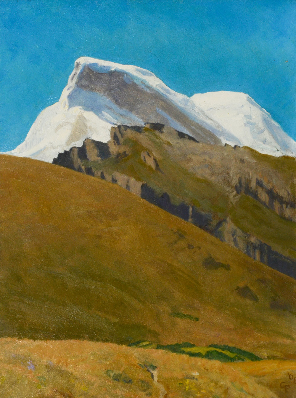 """Nevado Huscaran, Peru, o/p, 12"""" x 9"""""""