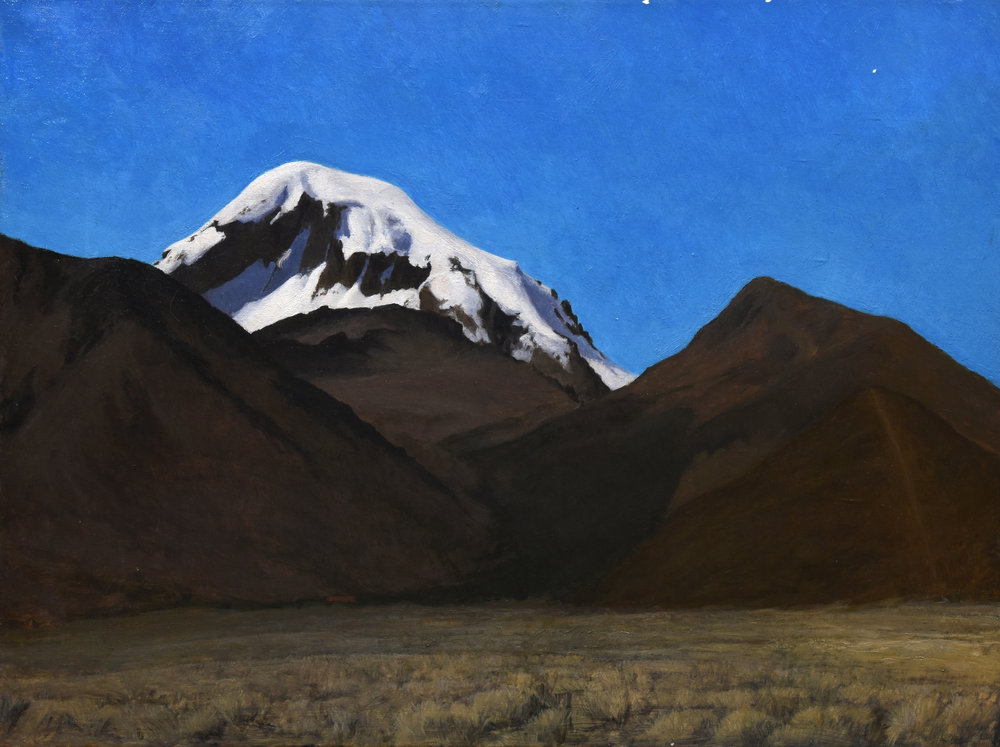 "Sajama, Bolivia, oil on canvas, 24"" x 36"""