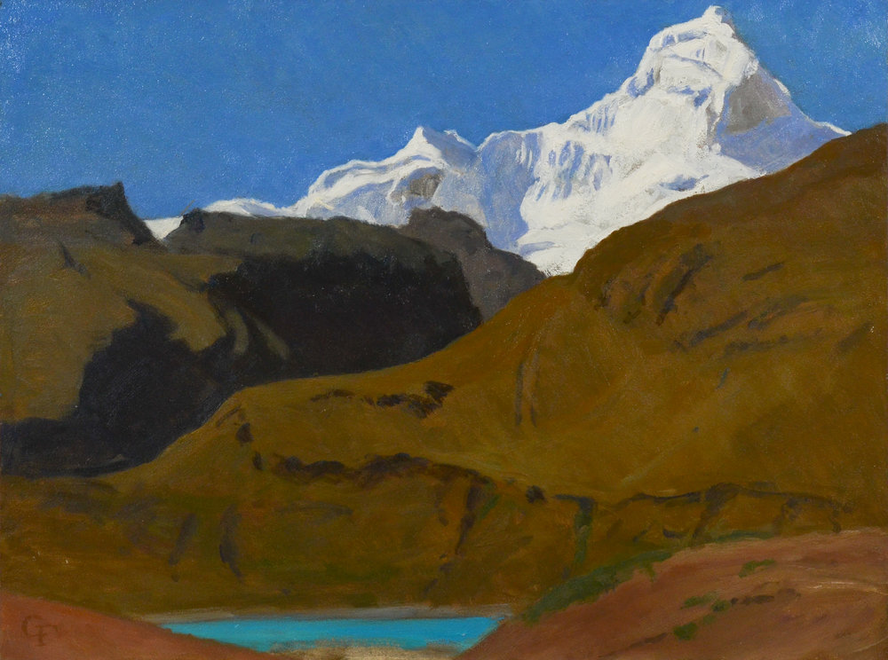 "Nevado Hondoy, Peru, o/p, 9"" x 12"" SOLD"
