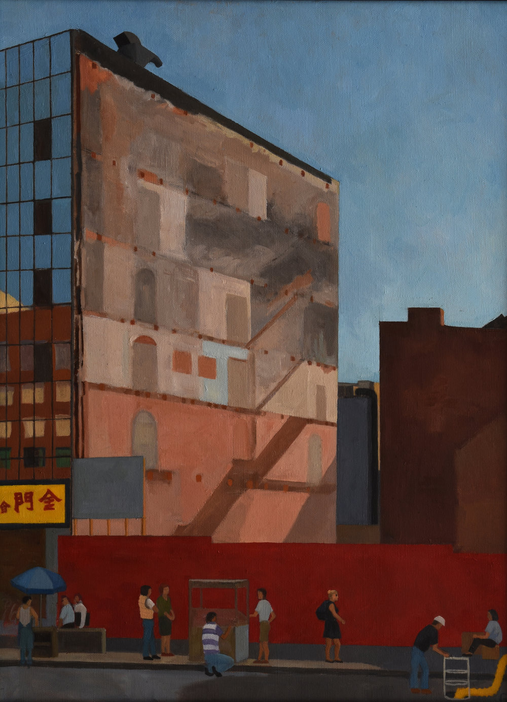 "Canal Street Wall, oil on canvas, 24"" x 18"""