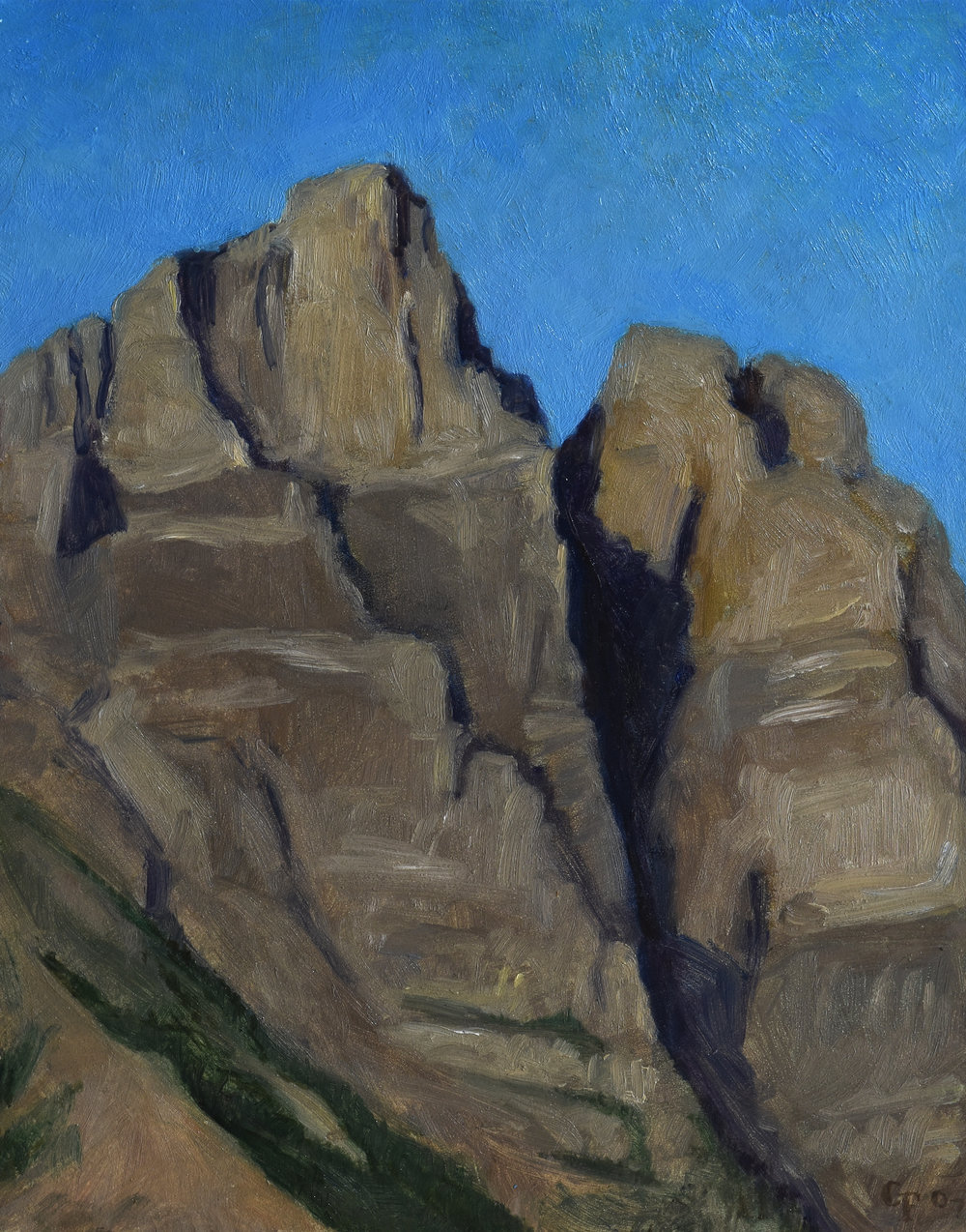 "Mount Tupper, oil on panel, 8"" x 10"""