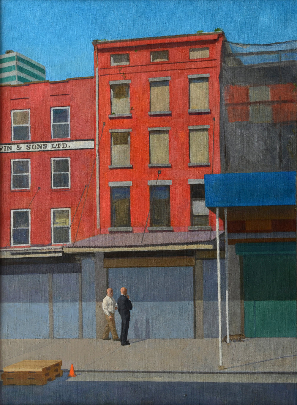"South Street for Sale, oil on canvas, 24"" x 18"""