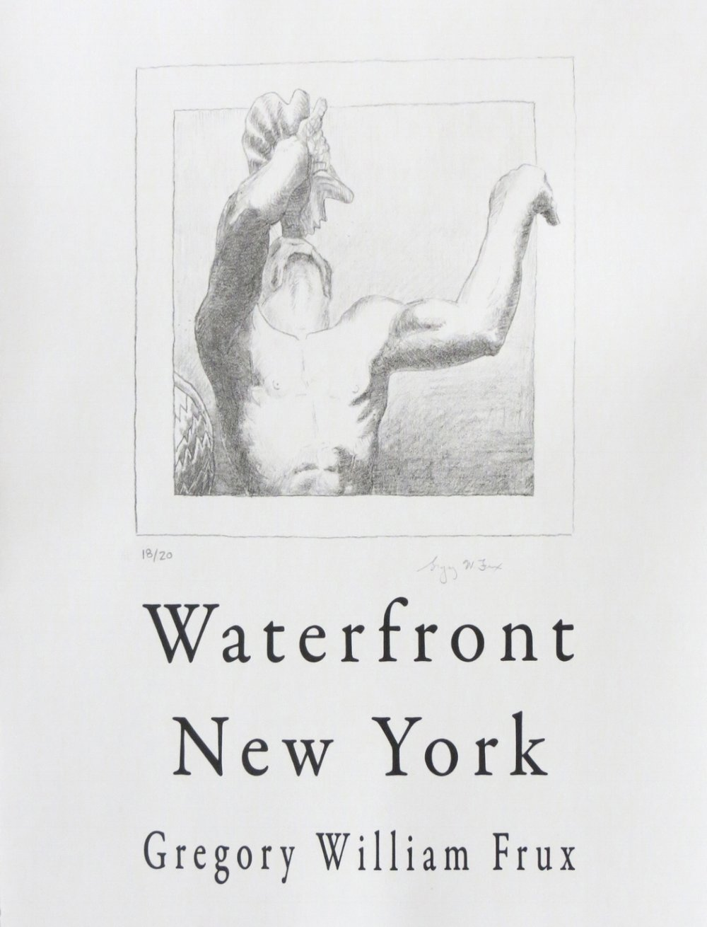 Waterfront Cover Page, lithograph and letter press