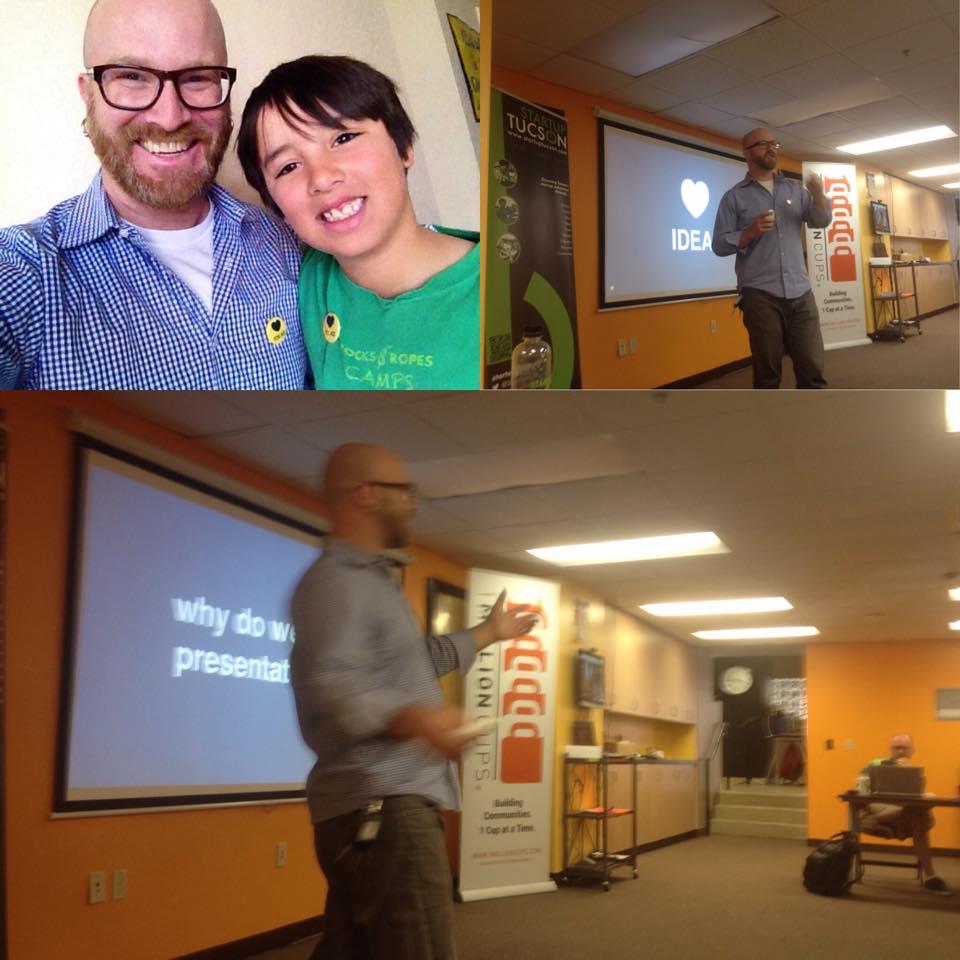 Aubrey joined me as co-presenter and photographer - Thanks @ StartUp Tucson -