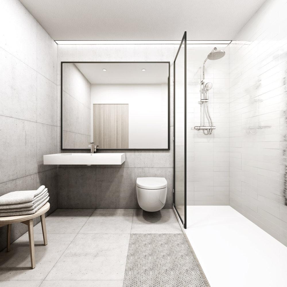 Los Baños - La experiencia del baño bajo una ducha de lluvia, suelo radiante y, en muchas viviendas, con luz natural, hacen de esta zona de confort un lugar privilegiado dentro de cada vivienda