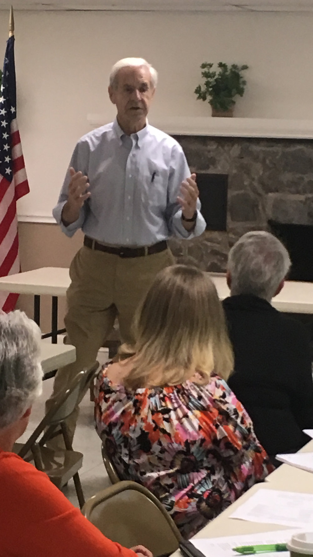 Rep. Kenny Imes of Murray presents his position on pension concerns at the District 1 RTA meeting in Murray on October 6th.