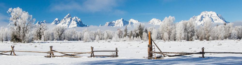 frosty teton ranchland