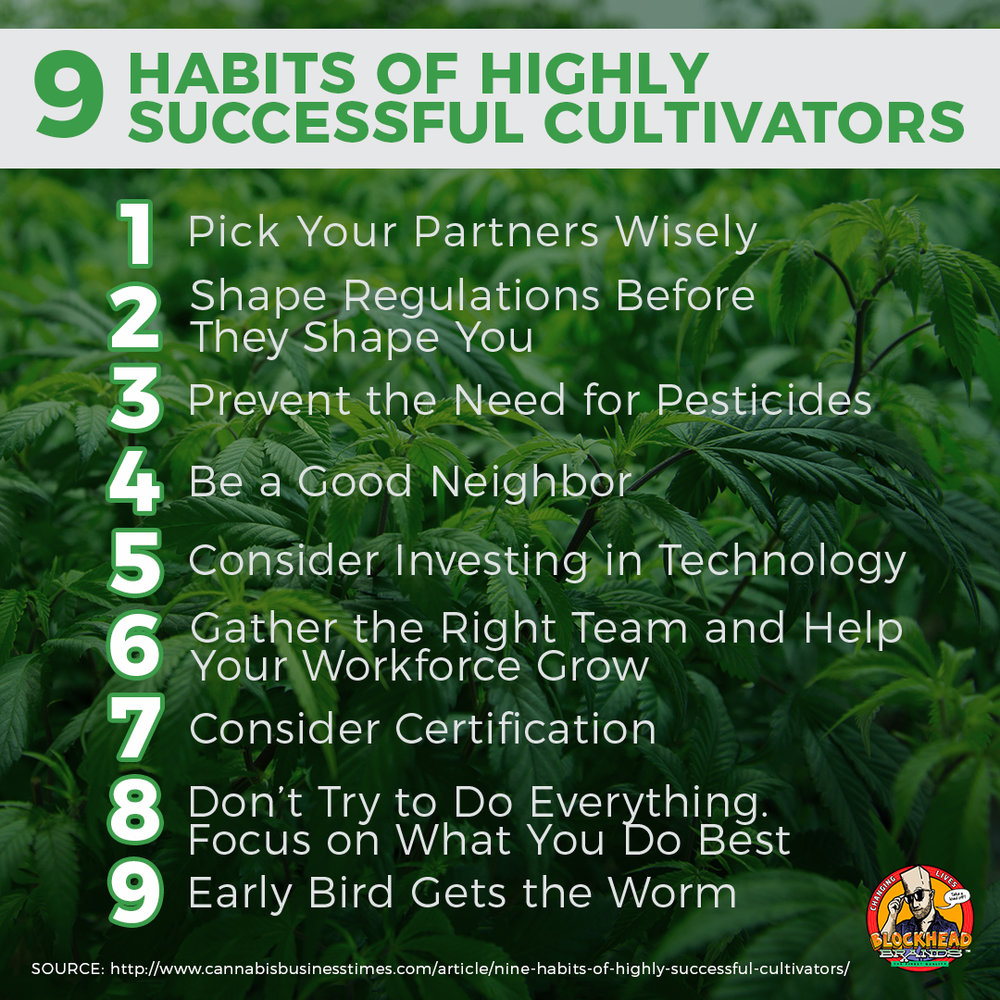 9 Habits Of Highly Successful Cultivators Blockhead Brands