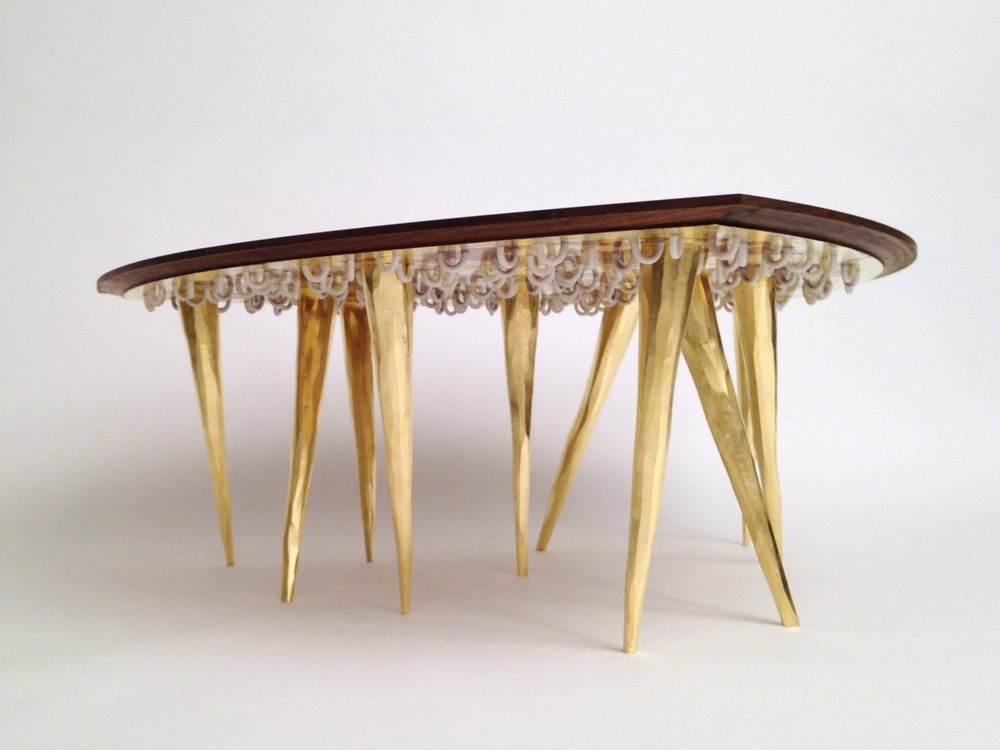 Reuleaux's Guest Cocktail Table by zuckerhosen. Part of the Gretchen and Ethan Davidson Collection - Bloomfield Hills, MI