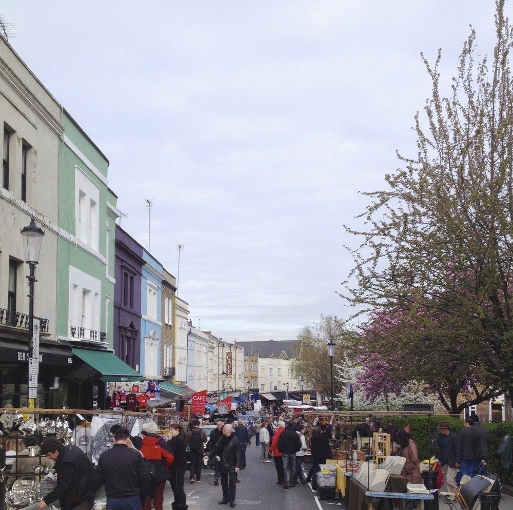 Portobello Market, London — a wandering druyf and her Tea party