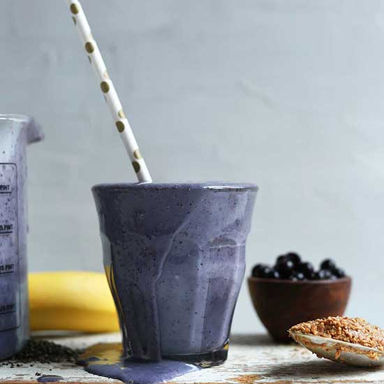 Blueberry Protein Almond Butter Smoothie