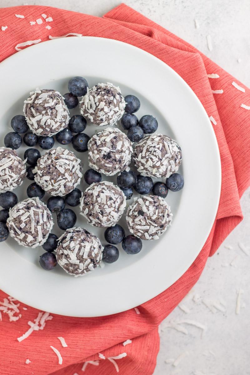 Paleo Blueberry Bliss Balls