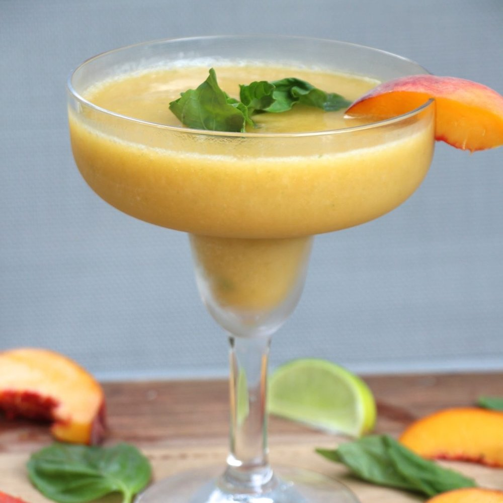 Peach Basil Margarita