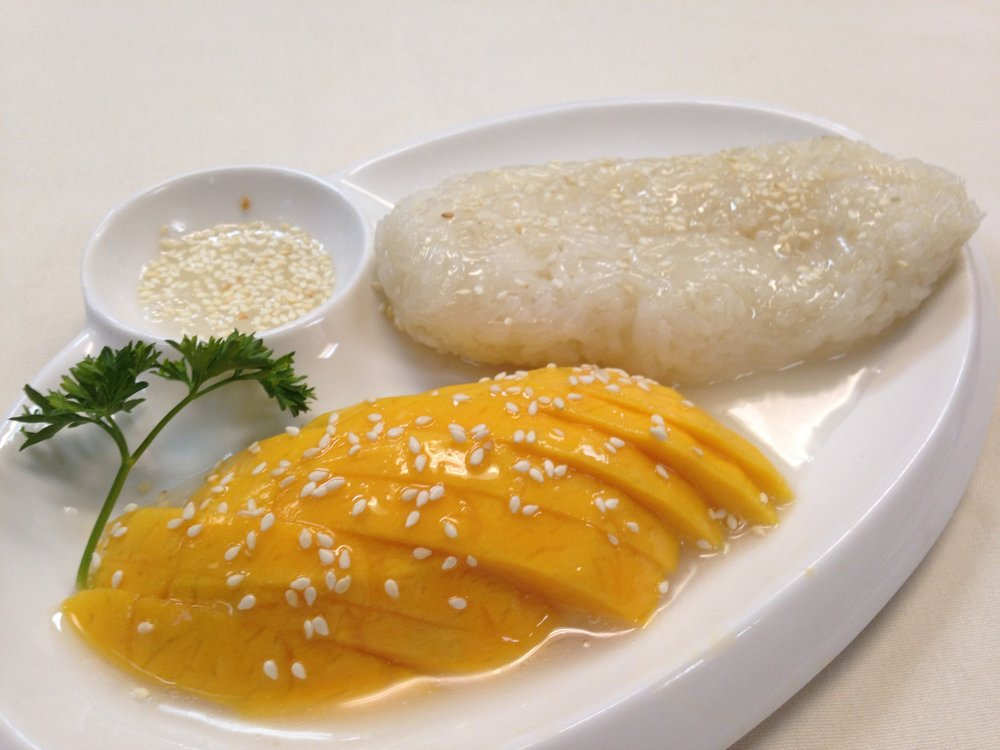 sticky rice with mango (seasonal) - 5.95